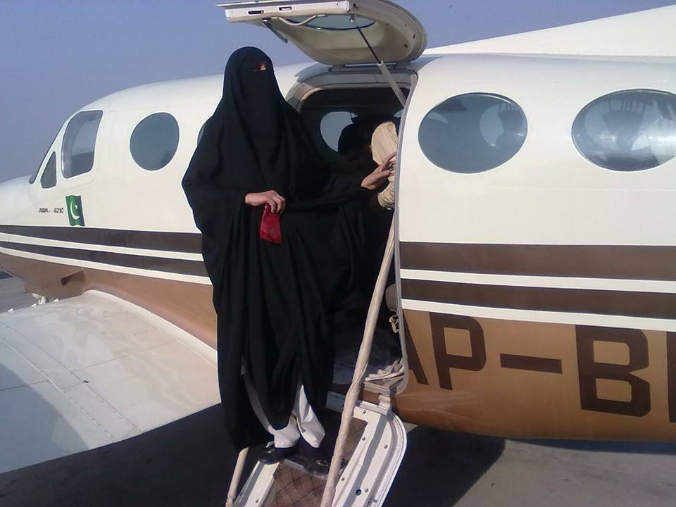 Inspirasi muslim_Shahnaz Laghari Pilot Bercadar2