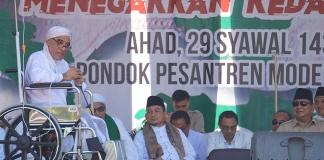 Kiai Ma'shum, Lakukan Orasi Meski Berkursi Roda di halal bi halal dan silaturahim 212