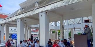 Masyarakat Gelar Shalat Jumat Masjid As-Sakinah Balai Pemuda