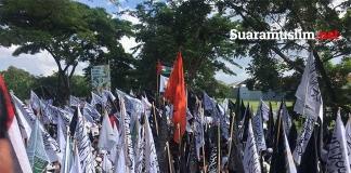 Ribuan Umat Islam Se-Jatim Kepung Konjen AS di Surabaya