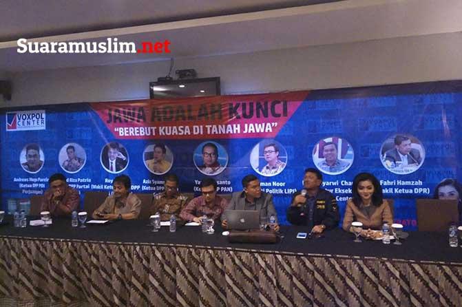 Voxpol Center Kemenagan Pilkada Di Jawa adalah Kuci Kemenangan Di Pilpres