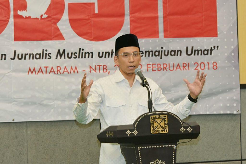 Ini Pesan Tuan Guru Bajang kepada Jurnalis Muslim