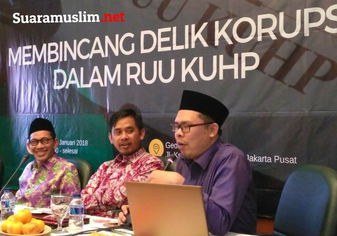 Peneliti PUKAT UGM Ingin Delik Korupsi RUU KUHP Tidak Perlemah KPK
