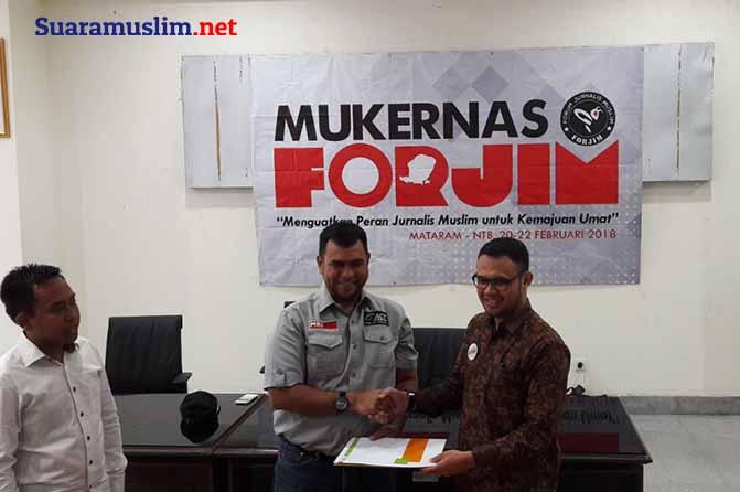 Teken MoU, Forum Jurnalis Muslim Bakal Latih Relawan MRI se-Indonesia