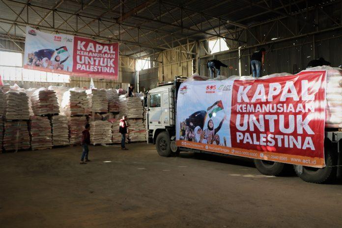 Jelang Ramadan, 2.000 Ton Beras Indonesia Disalurkan ke Gaza Palestina