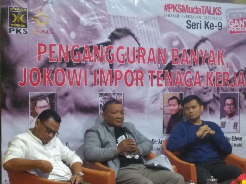 PKS Muda Penganguran Banyak, Jokowi Impor Tenaga Kerja