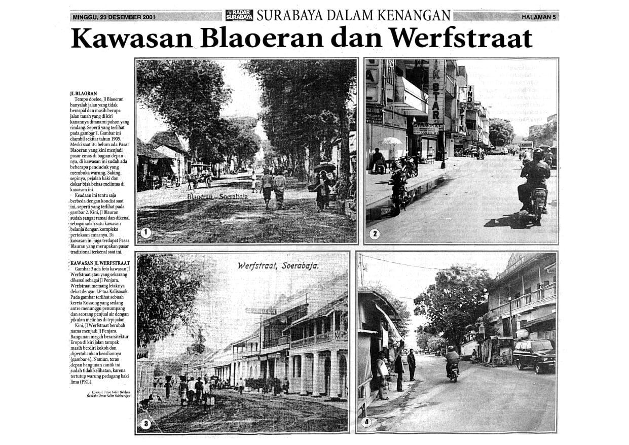Soerabaia Tempo Doeloe - Kawasan Jl. Werfstraat dan Blaoeran