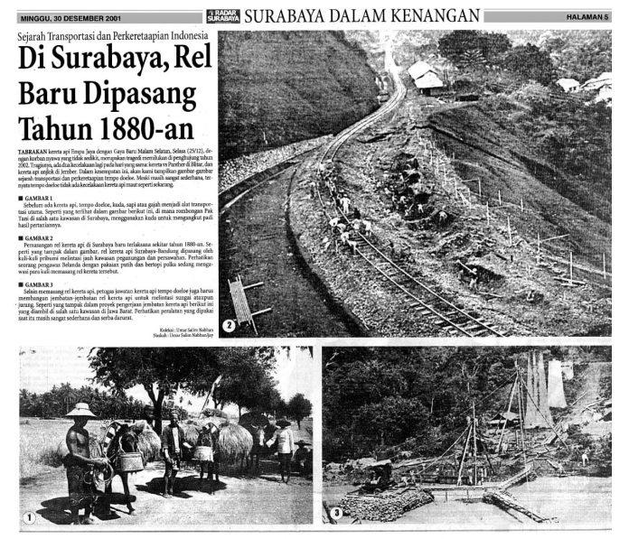 Soerabaia Tempo Doeloe Sejarah Transportasi dan Perkereta-Apian Indonesia