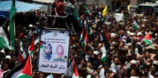 Ribuan Warga Palestina Antarkan Jenazah Razan al-Najjar