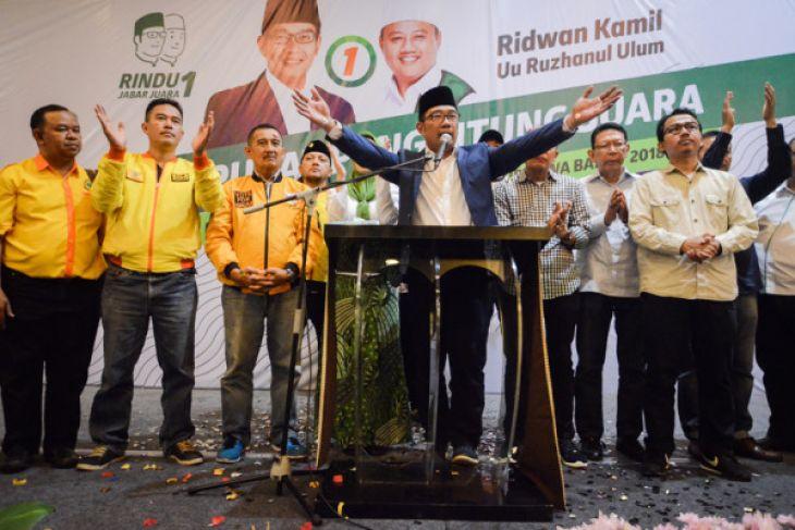 Pasangan Ridwan Kamil-UURuzhanul Ulum Menangi Pilkada Jabar Versi Hitung Cepat LSI
