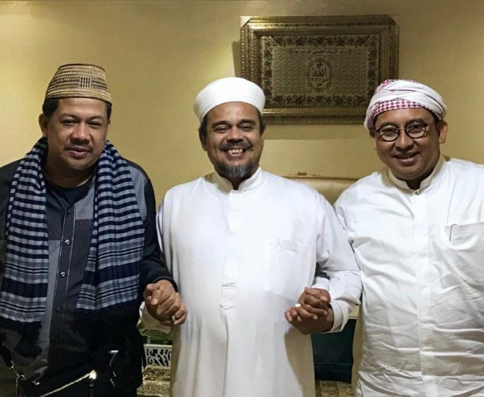 Fahri Hamzah-Fadli Zon Bertemu Habib Rizieq di Mekkah, Bahas Pilpres?