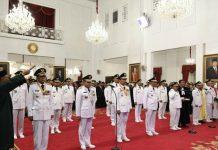Presiden Jokowi Lantik sembilan Gubernur Terpilih