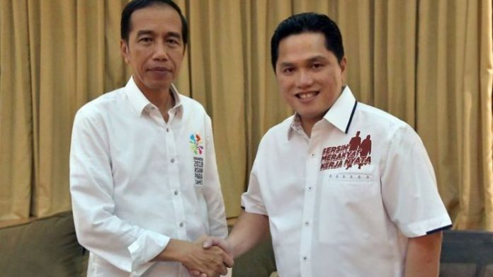 Pilih Erick Thohir Jadi Ketua Timses, Jokowi: Kami Ingin Kombinasi