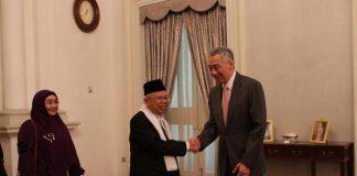 Ma'ruf Amin Temui Tokoh Masyarakat Indonesia di Singapura