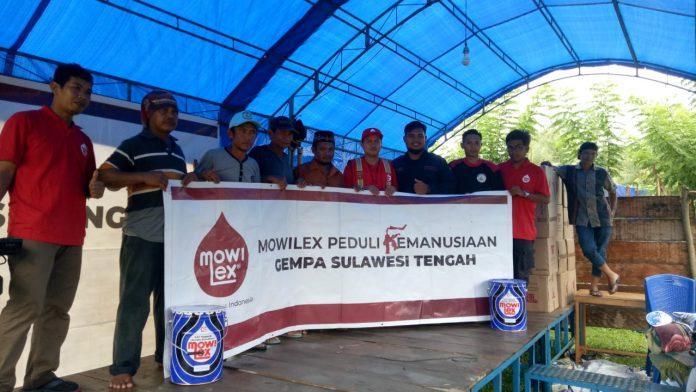 Gandeng WMI, Mowilex Salurkan Bantuan untuk Korban Gempa Sulteng