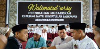 43 Pasang Santri Ikuti Pernikahan Mubarokah Hidayatullah Balikpapan