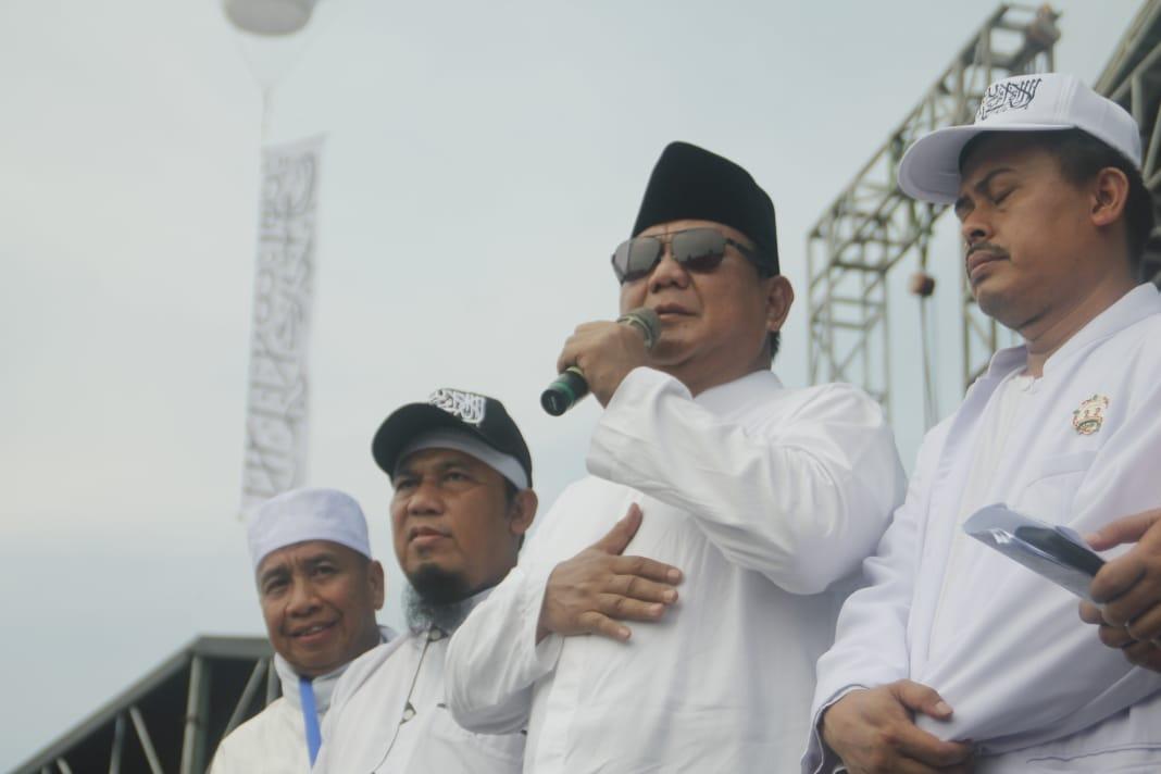 Prabowo Sentil Sikap Media di Reuni 212