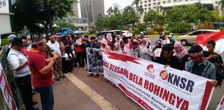 Peringati Hari HAM Internasional, Massa Demo Kedubes Myanmar terkait Rohingya