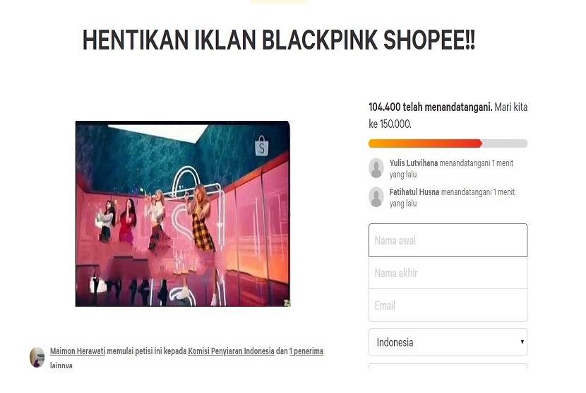 Galang Petisi 'Hentikan Iklan BLACKPINK Shopee!', Maimon Herawati Diserang K-Popers
