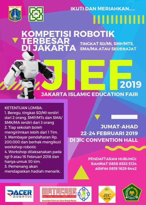 JIC Gelar Kontes Robotik Terbesar di Jakarta. Cek Ketentuan Lombanya!