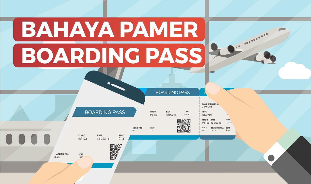 bahaya pamer boarding pass