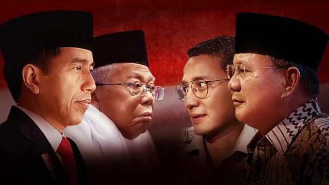 Survei Median: Elektabilitas Prabowo Semakin Meningkat dibanding Jokowi