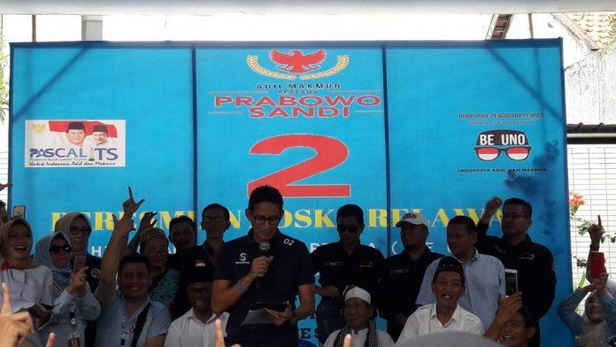 Resmikan Posko Relawan Alumni ITS di Surabaya, Sandi: Negara Ini Salah Urus