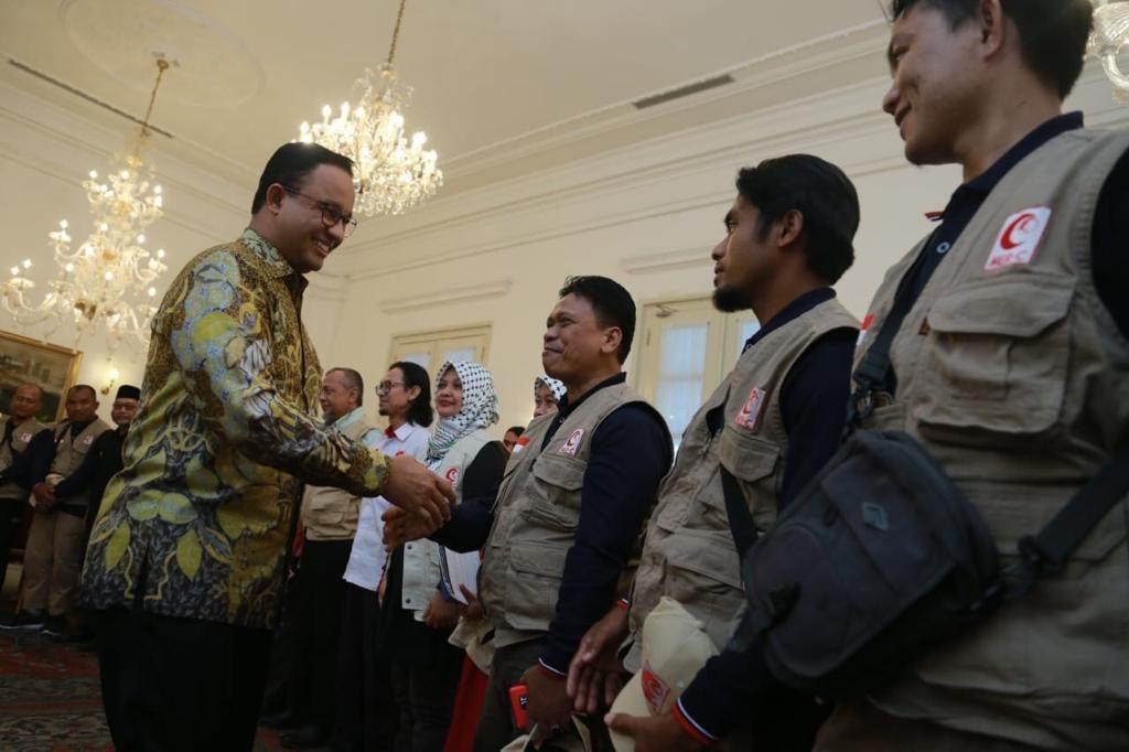 Dilepas Anies Baswedan, Relawan MER-C Siap Bangun RS Indonesia Kedua di Gaza