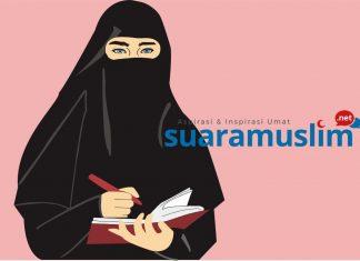 Ilustrasi perempuan bercadar (Ilustrator: Novitasari)