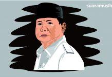 Ilustrasi Calon Presiden No Urut 2, Prabowo Subianto. Ilustrator: Novitasari