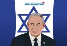 Ilustrasi PM Israel Benjamin Netanyahu (Ilutrator : Ana Fantofani)
