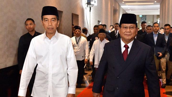 Charta Politika: Tren Elektabilitas Jokowi-Ma'ruf Menurun, Prabowo-Sandi Naik