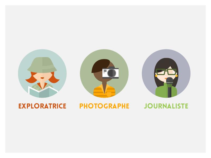 Ilustrasi beberapa profesi. (Ils: Ev/Dribbble)