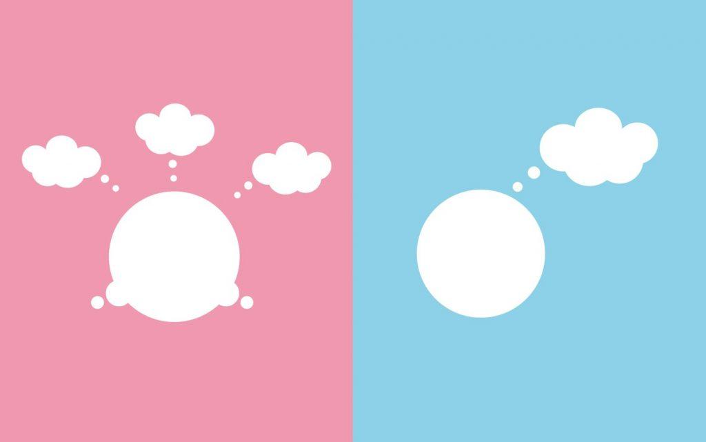 Ilustrasi cara berpikir pria dan wanita (Ils: viviane.co)