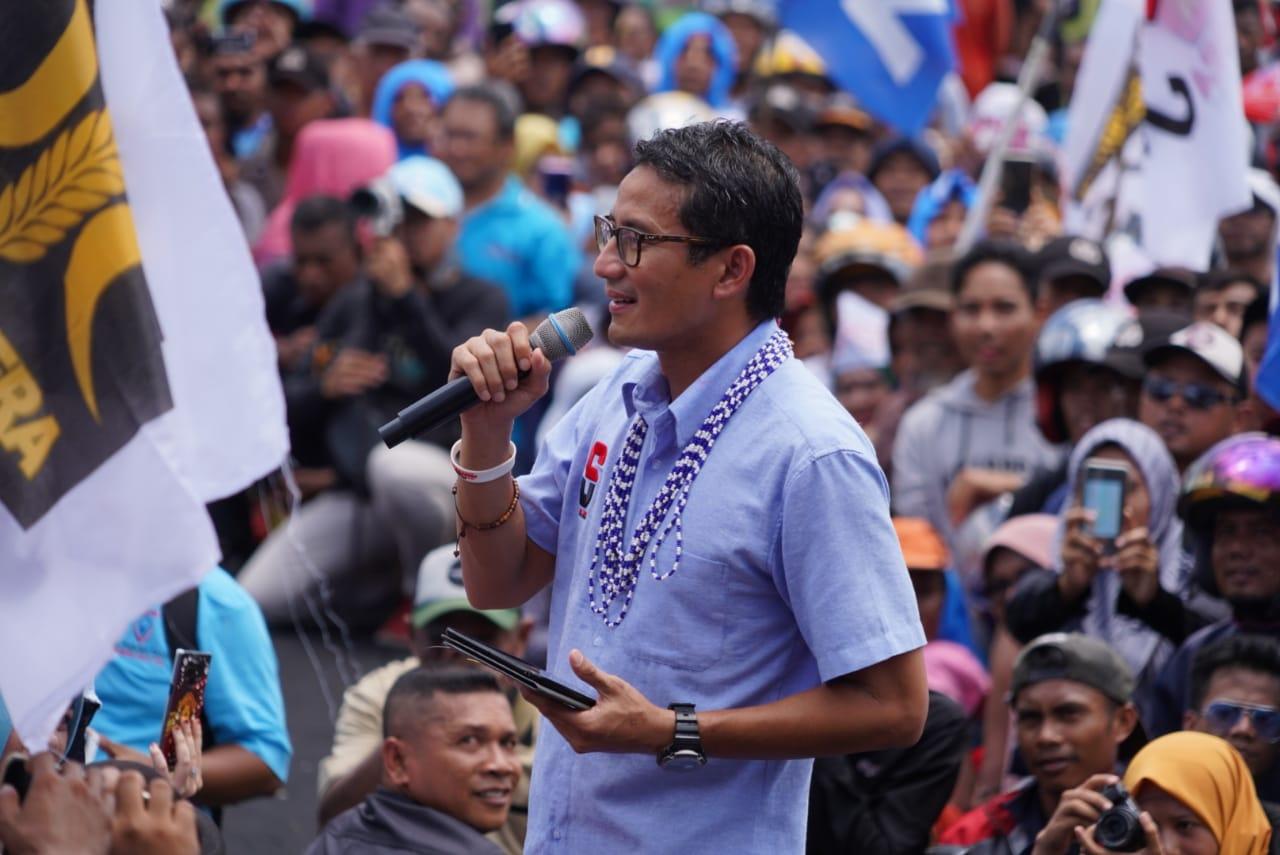 Tanggapi Hashim, Sandi: Menteri Kabinet Jokowi Juga Bisa Kami Libatkan