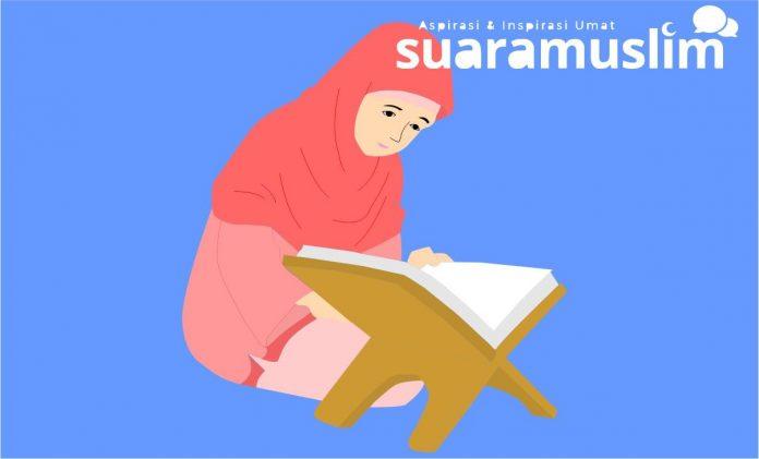 Ilustrasi seseorang membaca Al Quran (Ils: Novitasari)