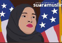 Ilustrasi: Ilhan Omar saat menghadiri konferensi pers di House Visitors Center di US Capitol. (Ils: Novitasari)