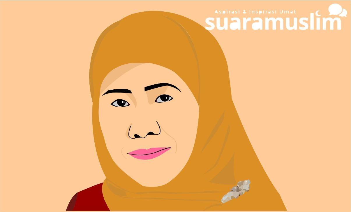 Ilustrasi Gubernur Jawa Timur, Khofifah Indar Parawansa. (Ils: Novitasari)