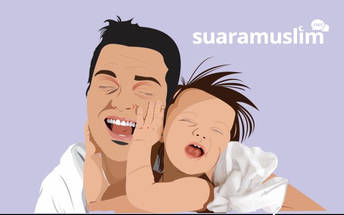 Ilustrasi Ayah dan Anak. (Ils: Ana Fantofani)