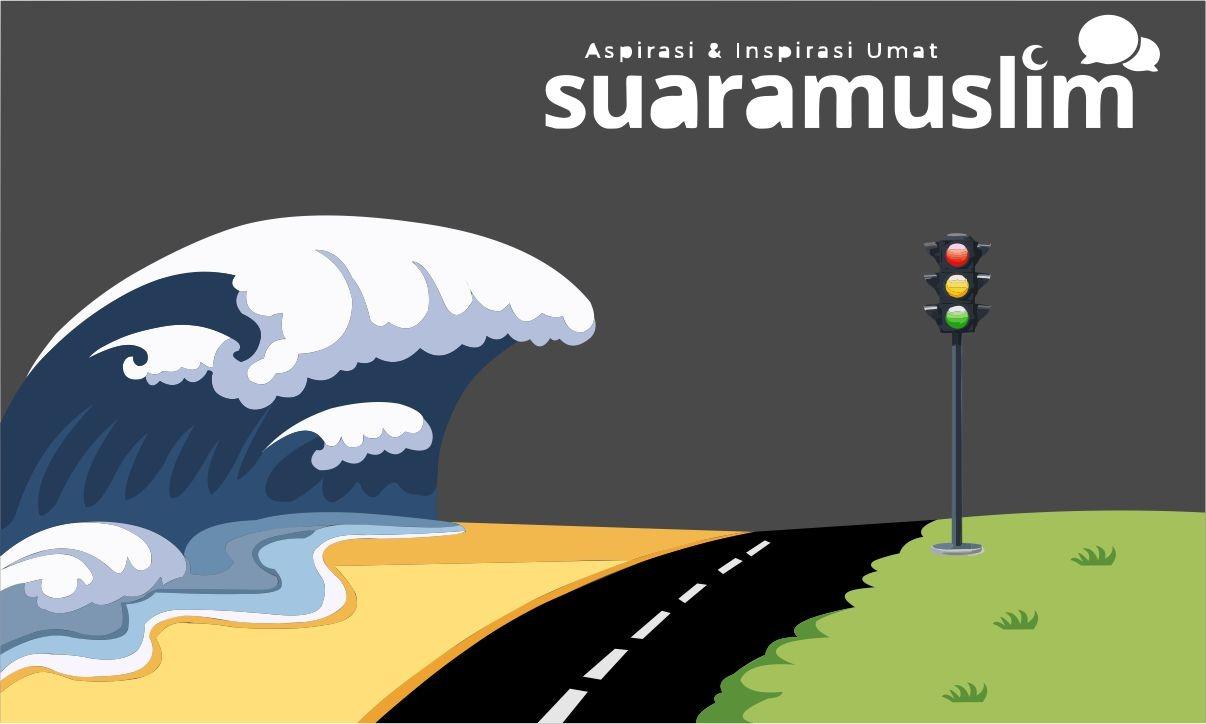 Ilustrasi: Bencana Tsunami. (Ils:Novitasari)