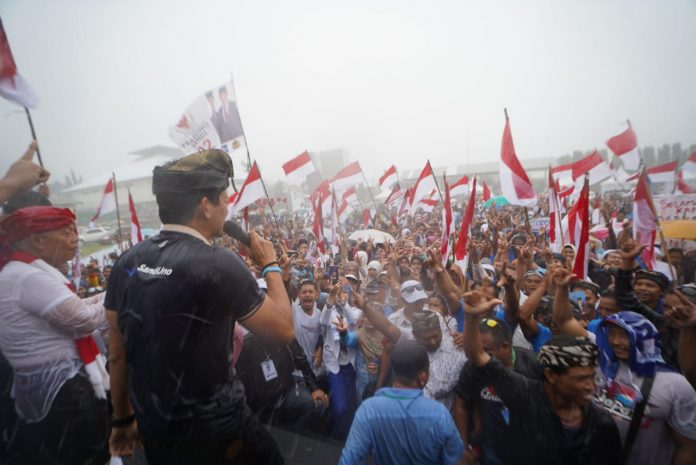 Kampanye di Bali, Sandiaga: TPS, Tusuk Prabowo Sandi
