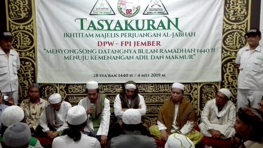 Sambut Ramadhan, FPI Jember Deklarasikan Kemenangan Prabowo