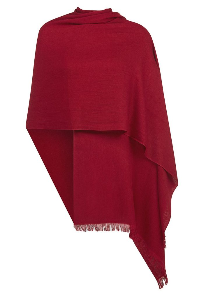 Burgundy pashmina. (Foto: ukpashmina.co.uk)