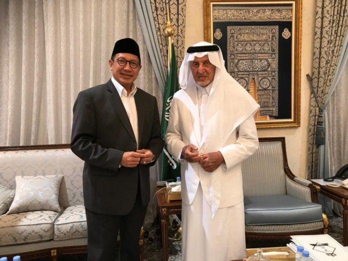 Bertemu Gubernur Makkah, Menag Minta Mina Diperbaiki