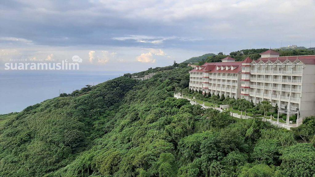 Pemandangan Farglory Hotel yang menghadap Samudera Pasifik, Shoufeng Hualien. (Foto: Muhammad Nashir)