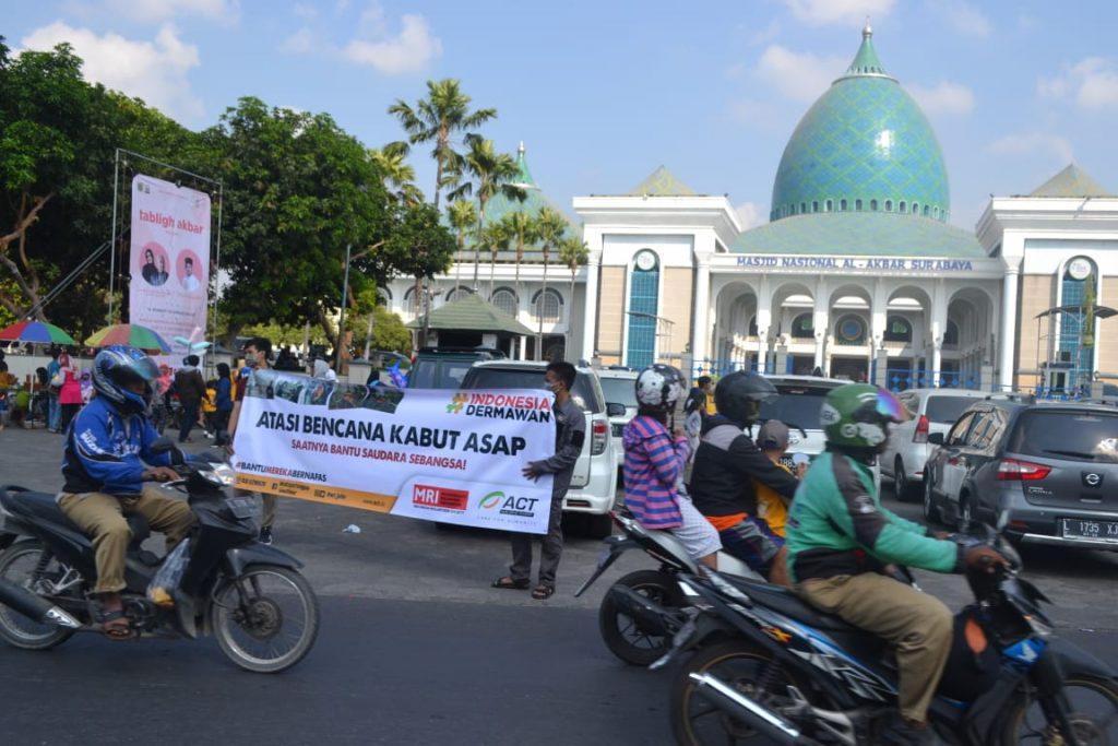 ACT Jatim Ajak Warga Surabaya Peduli Bencana Asap