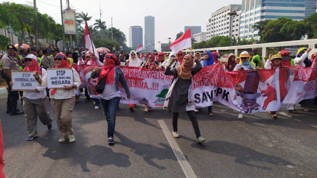 Massa Gerakan 20 September Padati Depan Gedung DPR RI