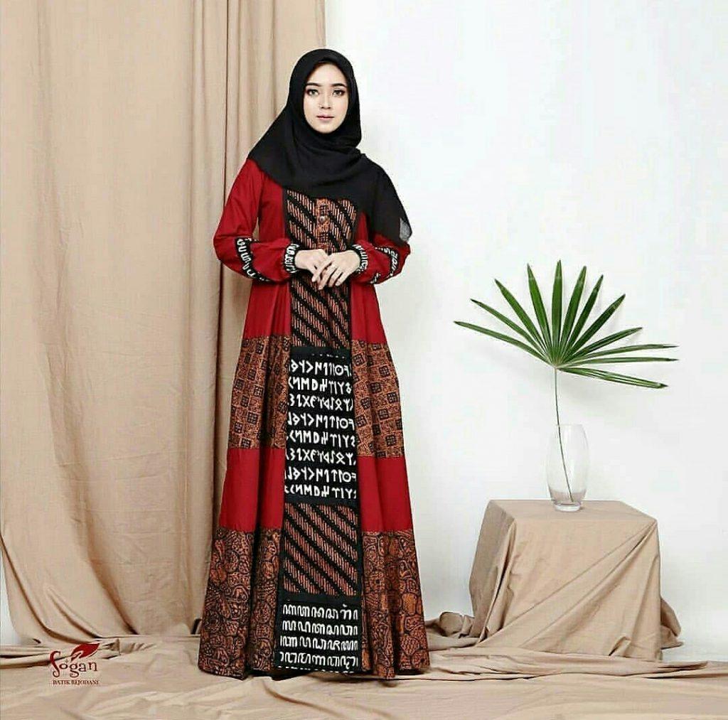 10 Model Gamis Batik Modern dan Elegan - Suara Muslim