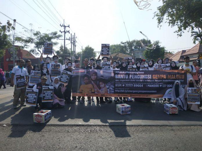 ACT Jatim Bersama Komunitas Ajak Warga Surabaya Peduli Gempa Maluku