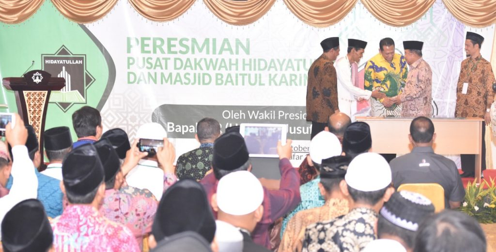 Wapres Jusuf Kalla Resmikan Gedung Dakwah Hidayatullah dan Masjid Baitul Karim